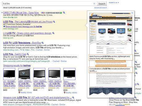 Google Instant Preview en Google Adwords: Instant Ad Previews