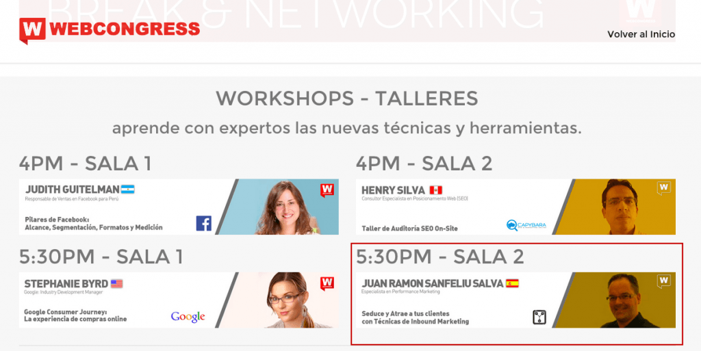 Taller de Inbound Marketing en el WebCongress Lima 2015